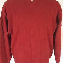 Tommy Bahama Mens Red Cotton Vneck Sweater M Photo