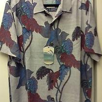 Tommy Bahama Mens Silk Shirt Medium Nwt / Island Modern Fit Photo