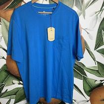Tommy Bahama Mens Size Xl Blue Pocket T Shirt Tee Shorts Sleeve Nwt Msrp 80 Photo