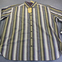 Tommy Bahama Mens Smokey Quartz Solana Stripe  Silk Blend Ls Shirt Nwt 2xb 168 Photo