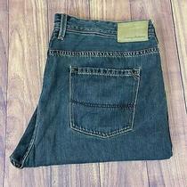 Tommy Bahama Mens Standard Fit Straight Leg Dark Blue Stretch Jeans 42x28 Photo