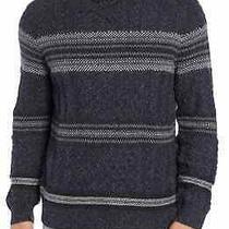 Tommy Bahama Mens Sweater Black Size Large L Striped Shawl Collar 195 118 Photo