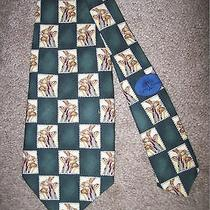 Tommy Bahama  Multicolored With Golf Clubs 100% Silk Neck Tie Photo