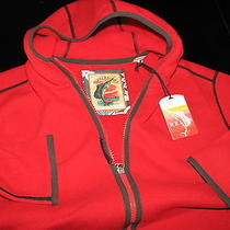 Tommy Bahama New Hooded River Chil Pepper Full Zip Fleece Jacket L Large Tr27829 Photo