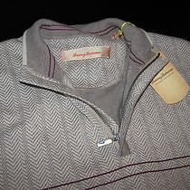 Tommy Bahama New Teed Up Cobblestone Half Zip Vest Sweater Large  L  T40055 Photo