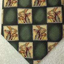 Tommy Bahama Nwot Mens Tie Green With Golf Club Stamp Design 58