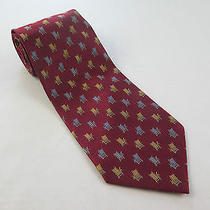 Tommy Bahama Off Island 100% Silk Red Beach Lounge Chairs Hand Made Necktie Euc Photo