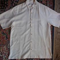Tommy Bahama Off-White on Off-White Button Shirt Med Photo