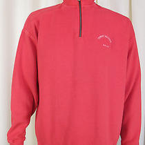 Tommy Bahama Pullover Sweater Mens Size Large Pink Cotton 1/4 Zip Relax Aruba Photo