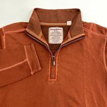 Tommy Bahama Quarter Zip Jacket Mens Medium Long Sleeve Burnt Orange Perfect Fit Photo