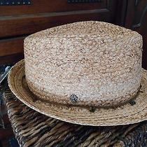 Tommy Bahama / Raffia / Hemp / Straw / Fedora Hat / Was 90.00 / L  Photo