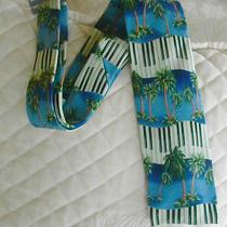 Tommy Bahama Relax 100% Silk Neck Tie W/ Palm Trees Piano Keyboard  Nwot  14 Photo