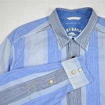 Tommy Bahama Relax Long Sleeve Button Cotton Lawn Chair Blue Shirt Men's Medium Photo