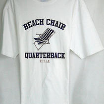 Tommy Bahama Relax Tee Shirt  'Beach Chair Quarterback' Msrp 48 Nwot - in Lg Photo