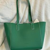 Tommy Bahama Reversible Tote Bag 2 Looks in 1 Purse Polka Dot White & Green Nwt Photo