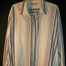 Tommy Bahama Shirtmulti Colo Stripexxlong100% Silk Good Condition Photo