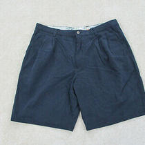 Tommy Bahama Shorts Mens 35 Blue Silk Blend Chino Casual Outdoors Mens B36 Photo