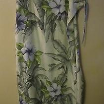 Tommy Bahama Silk Blend Long Side Tie Floral Print Skirt  M Photo