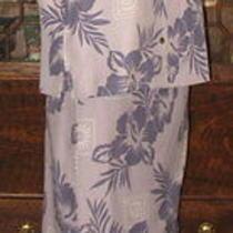Tommy Bahama Silk Sarong Wrap Skirt & Tunic M Hibiscus Print Photo