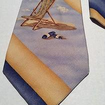 Tommy Bahamasilk Tie 57x4stripedbig Beach Chairmade in Usanecktie Photo