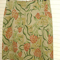 Tommy Bahama  Skirt 4   Wearable Art  Floral 100% Silk a Line Above Knee Nwot  4 Photo
