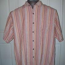 Tommy Bahama Ss Casual Silk Island Shirtorange Stripedlarge Photo
