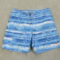 Tommy Bahama Swim Trunks Adult 2xl Xxl Blue White Bathing Suit Board Shorts Mens Photo