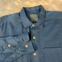 Tommy Bahama Sz M (16-34) Handsome Blue Button Down Men's Shirt  Photo