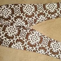 Tommy Bahama Textured Cotton Semi-Lo Capris Looser Fit Seatthigh Sz 8 Tropicool Photo