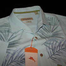 Tommy Bahama Tuscan Frond Embroidered Whisper Silk Camp Shirt Large L T310332 Photo