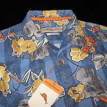 Tommy Bahama Tuscan Trellis Dark Sea New 100% Silk Camp Shirt Large L T310486 Photo