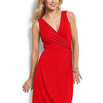 Tommy Bahama Women's Lacquer Red Tambour Side Knot Dress S/p Photo