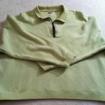 Tommy Bahama Womens High End Light Green Collared Half Zip Sweater M Medium Photo