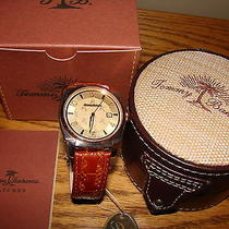 Tommy Bahama Wrist Watch Leather Band Swiss Grade Rose Gold Quartz New Photo