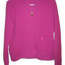 Tommy Bahama Zip Front Sweater Jacket Size 2 Hot Pink Womens Xs Photo