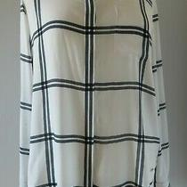 Tommy Hilfiger Black and White Striped Blouse Shirt Top Uk 10 Photo