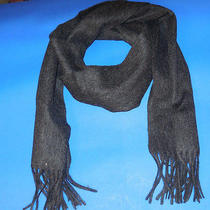 Tommy Hilfiger Black Solid Scarf - New Wt -  Photo