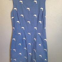 Tommy Hilfiger Blue Embroidred Dolphin Dress Size 4 Photo