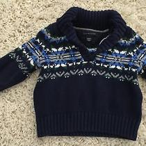 Tommy Hilfiger Boys Sweater Sz 12 Mo Navy v-Neck Toddler Winter Photo