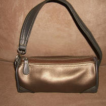 Tommy Hilfiger Bronze & Taupe Barrel Hobo Handbag Purse - 9