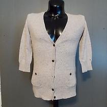Tommy Hilfiger  Cardigan  Sweater Size Medium Beige Wool Blend Button Pockets Photo