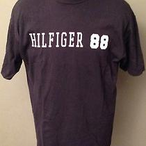 Tommy Hilfiger Charcoal 88 Spell Out Short Sleeve T-Shirt M Hip-Hop Photo