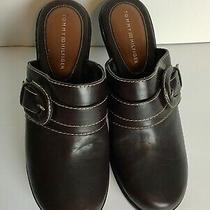 Tommy Hilfiger Clogs Mules Heel Millie Sandal Size 10 M Color Brown  Photo