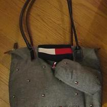 Tommy Hilfiger Cloth Tote Bag With Matching Clutch Photo