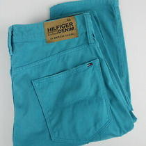 Tommy Hilfiger Denim Ryan Litwgd Peacock Blue Men's W32/l34 Trousers 24928-Js Photo