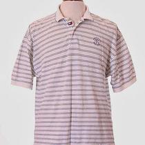 Tommy Hilfiger Golf Navy White Tustin Ranch Polo Shirt M 8/10 Photo