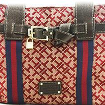 Tommy Hilfiger Handbag Women's Shopper Tote Ladies Purse Authentic  Marron New Photo