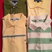 Tommy Hilfiger Ladies/jrs Lot of 4 Polo Shirts Like New Photo