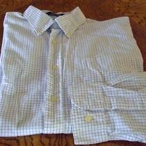 Tommy Hilfiger Long Sleeve Shirt-100% Cotton-White/ Small Checks- Size Xl Photo