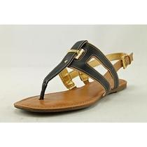 Tommy Hilfiger Lynnie Womens Size 6.5 Black Leather Slingback Sandals Shoes Used Photo